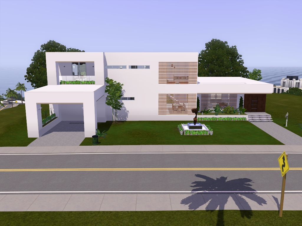 Roomy house via sims for Casas modernas the sims 4