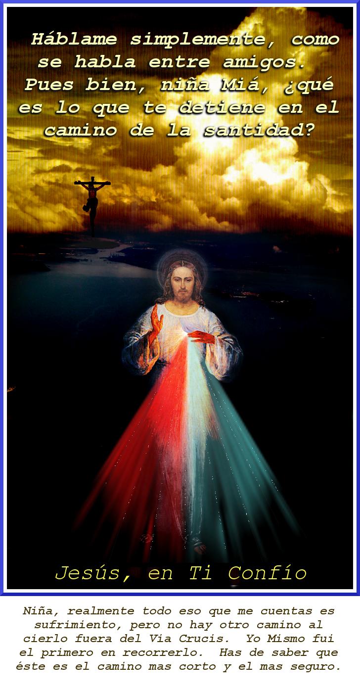 foto con parte del dialogo de jesu tomado de ,la divna misericordia