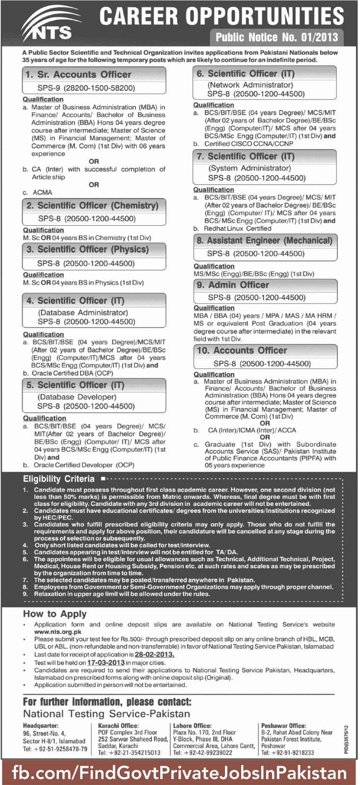 nts jobs ads