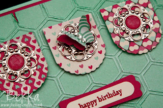 Hearts a Flutter Card Making Class Card by Stampin' Up! Demonstrator Bekka Prideaux - if you can get to one of her classes you will have a lot of fun!