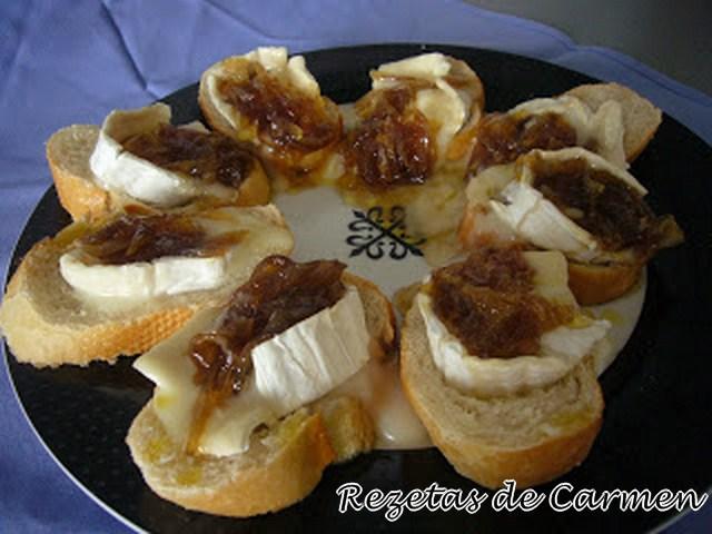 Rezetas de carmen tostas de queso de cabra con cebolla - Queso de cabra y colesterol ...