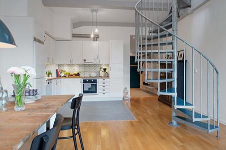 Los pisos n rdicos y las escaleras de caracol un flechazo for Escaleras de duplex
