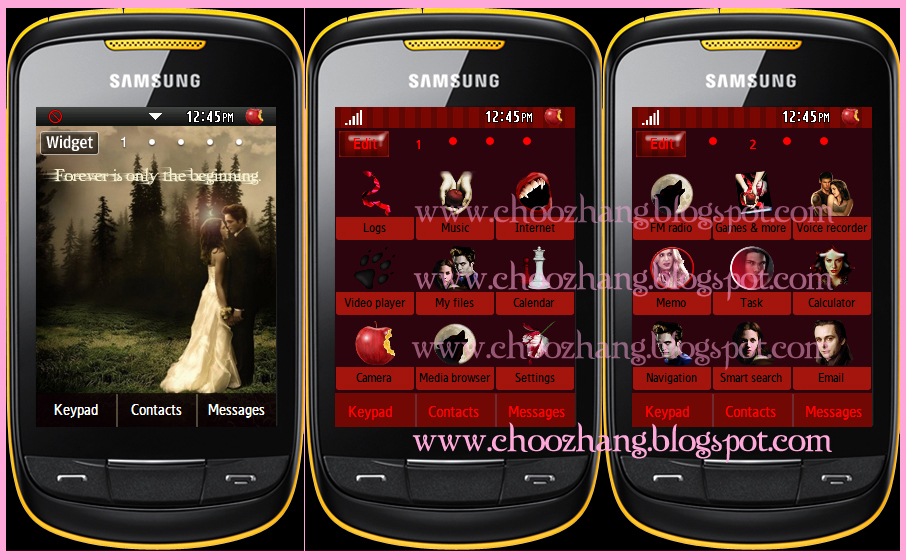 Samsung Corby 2 or S3850 - Twilight Themes