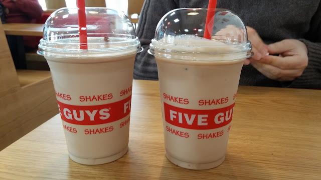 two five guys milkshakes