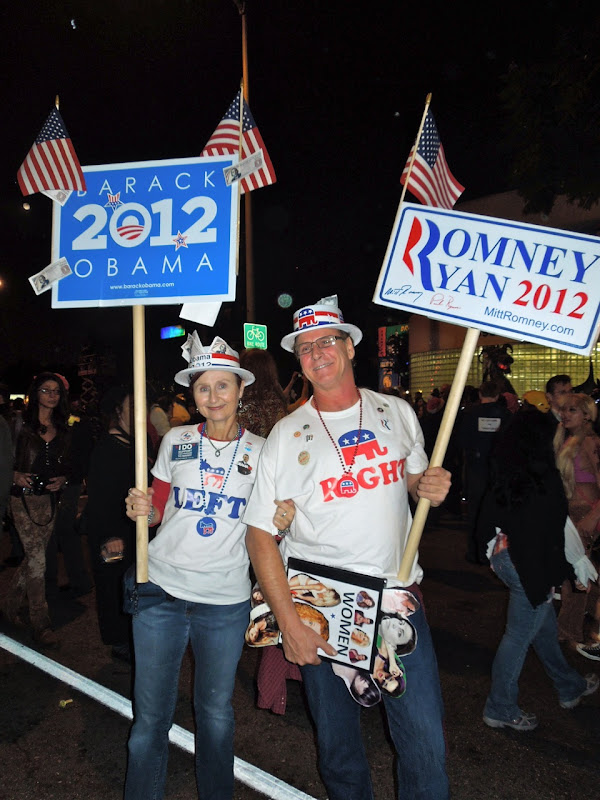 2012 Election costumes WEHO Halloween Carnaval