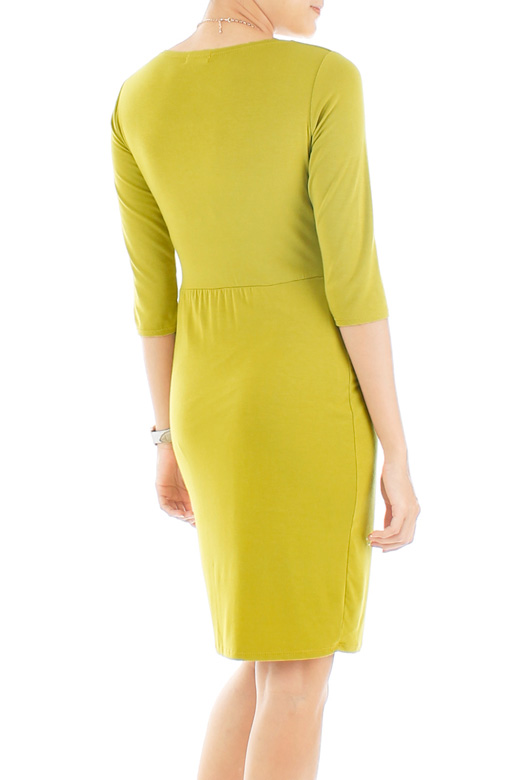 Secret Dreams Wrap Dress - Lime Green