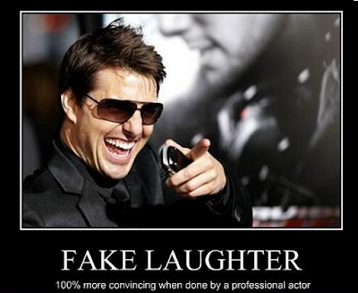how to tell if its a fake laugh