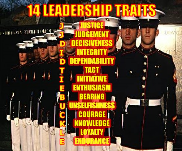 Lead The Marine Way Marine Corps Leadership Traits