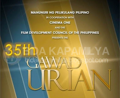 35th Gawad Urian 2012 complete list of Winners (Maja Salvador Best Actress and Paulo Avelino Best Actor)
