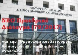 ΝΕΟ Π.Δ.79/1-8-2017
