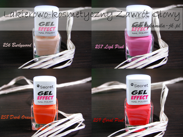 Lakiery Gel Effect My Secret Burlywood Light Pink Dark Orange Coral Pink