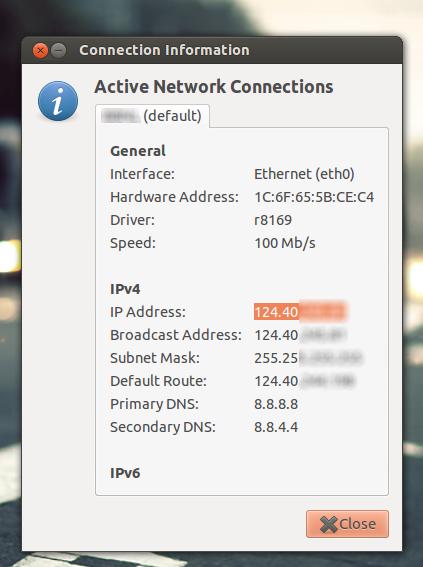 finding ip address in ubuntu