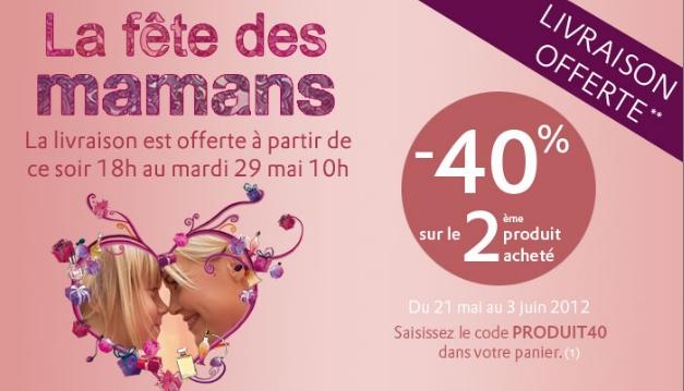 Marionnaud: -40% sur le 2 ème produit acheté + livraison gratuite bon plan marionnaud bon plan beaute promo marion