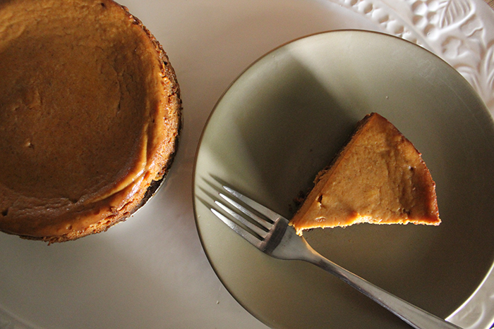 Pumpkin Pie, Deep Dish, with Ginger Snap Crust