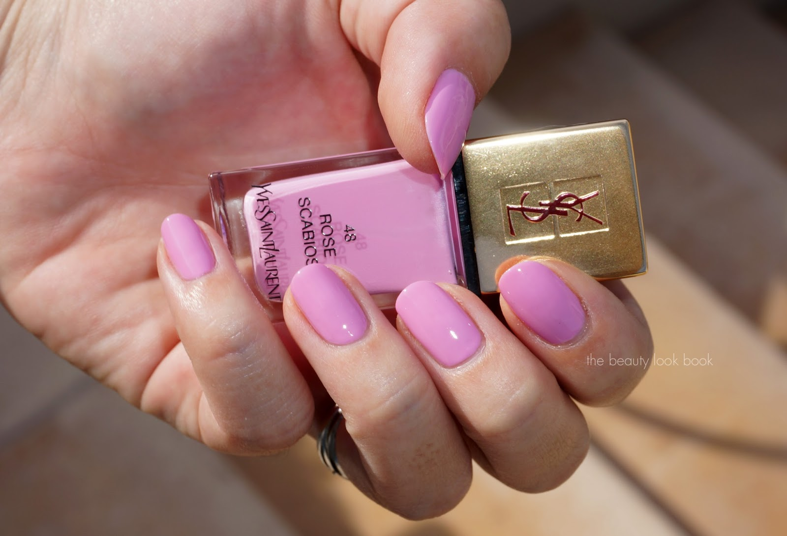The Beauty Look Book: YSL La Laque Couture Rose Scabiosa #48 and ...