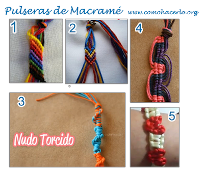 pulseras macrame hilo