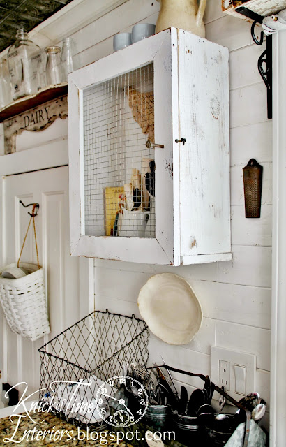 Diy primitive cabinet from a repurposed wooden crate and