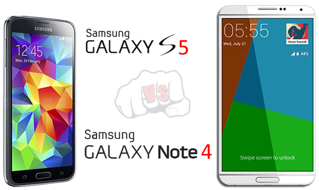 Samsung Galaxy S5 vs Note 4 Specs Comparison and Features
