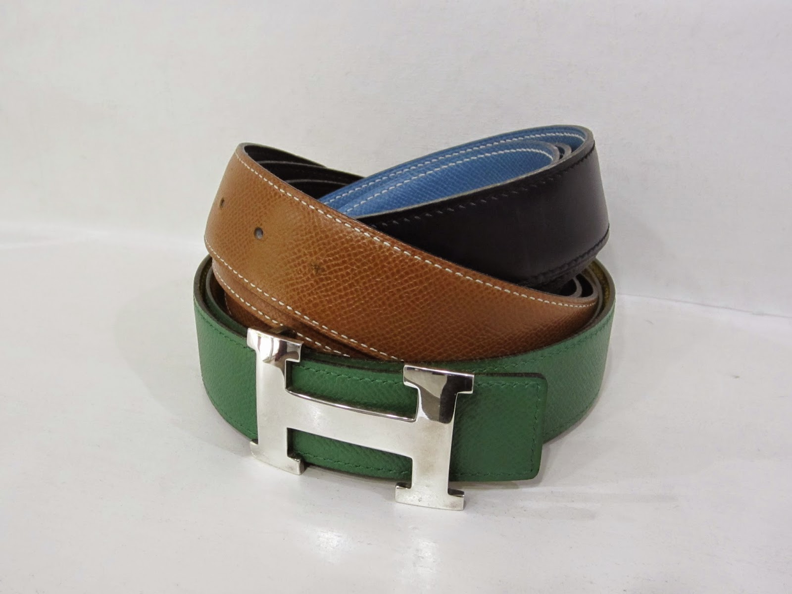 Hermes Belts with Silver H buckle
