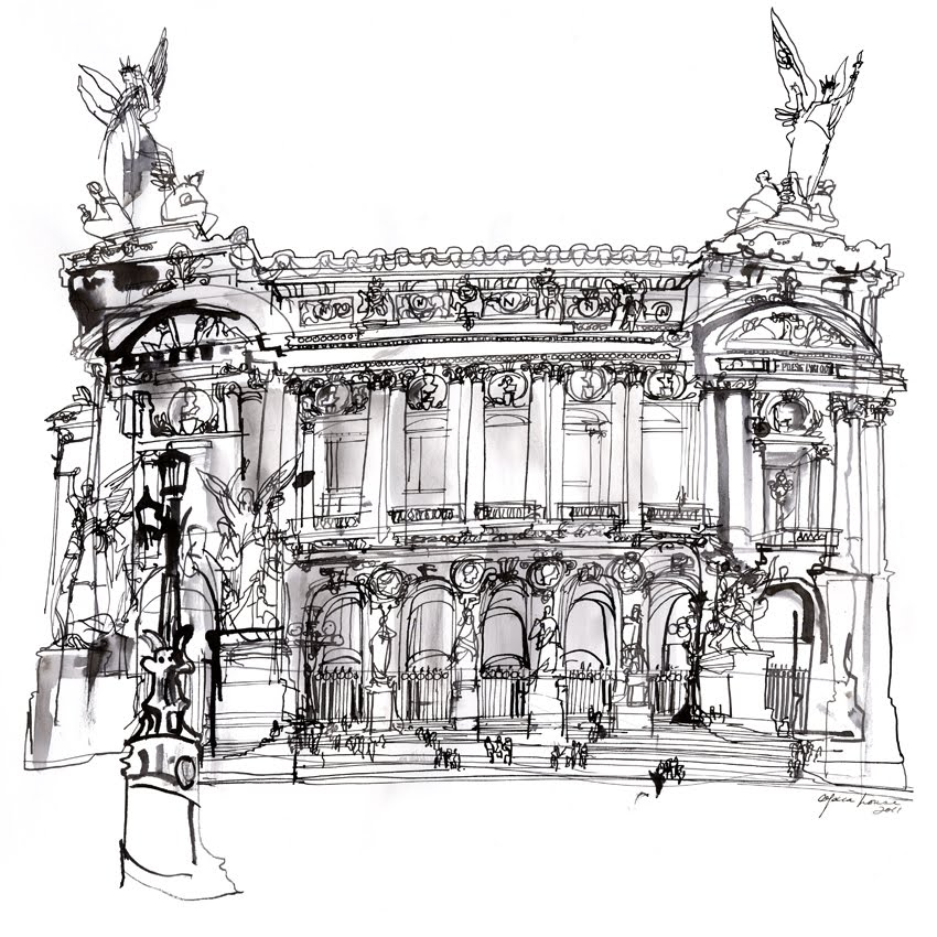 how to draw the opera house