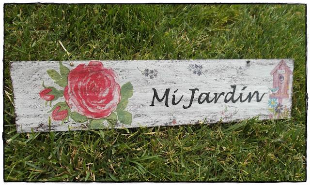 El refugio de lirtea cartel para el jardin - Cosas para el jardin ...