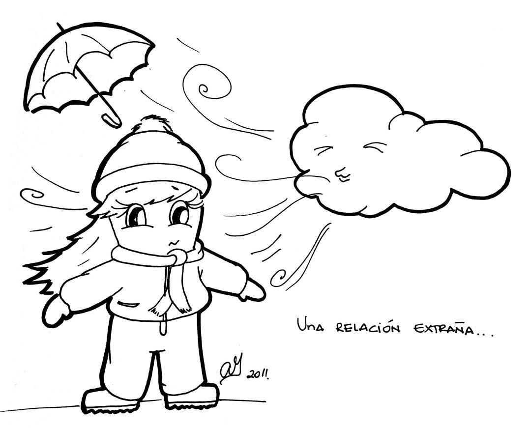Imagenes de niños con frio para colorear - Imagui