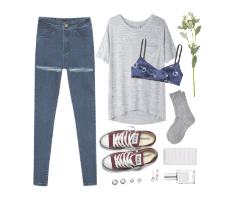 jeans outfit shirt sneakers