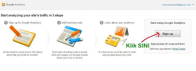 Cara Mendaftar Dan Aktifkan Akaun Google Analytics