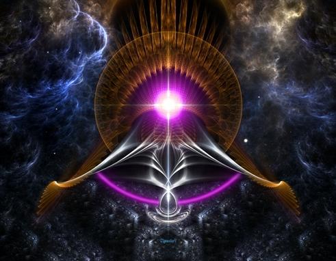 Portal de energia magenta escarlate