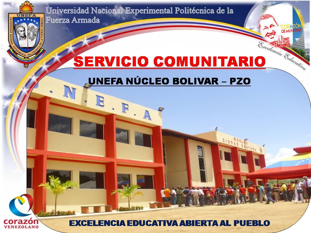 Servicio Comunitario Unefa PZO