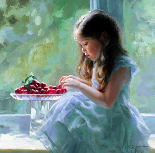 Imágenes de Pinturas: Tiernas pinturas de niñas