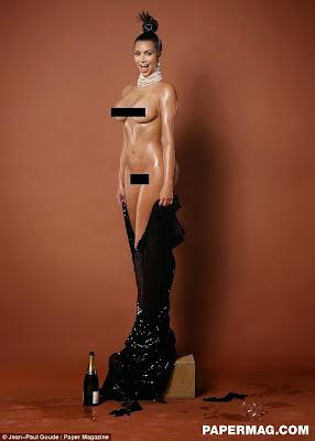 كيم كارداشيان بالتأكيد سوف تحطم الإنترنت بهذه الصور العارية على غلاف مجلة Paper