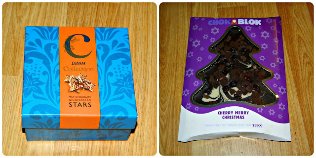Tesco Chocolate Gingerbread Stars Chokablok Cherry Merry Christmas