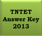 TNTET Answer Key 2013