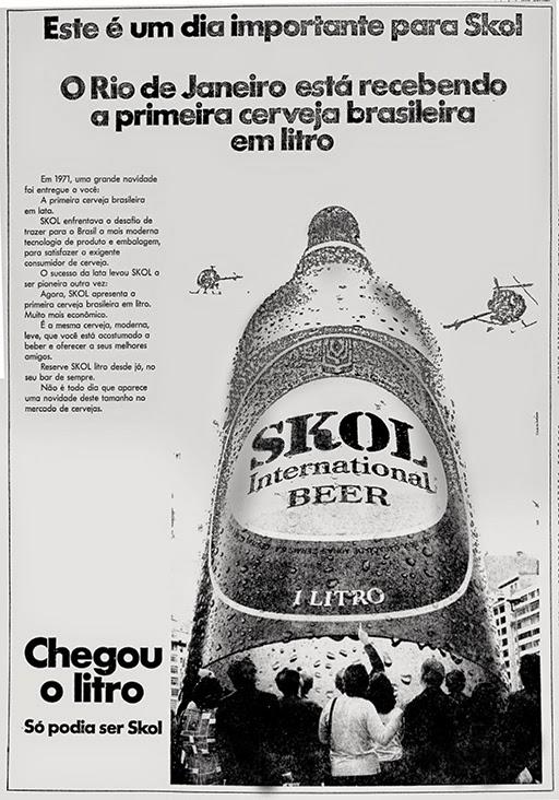 skol. 1975. propaganda década de 70. Oswaldo Hernandez. anos 70. Reclame anos 70