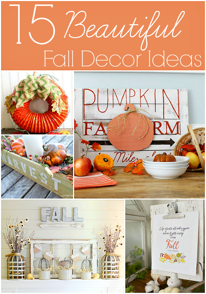 15 Beautiful Fall Decor Ideas to make your home beautiful this fall!