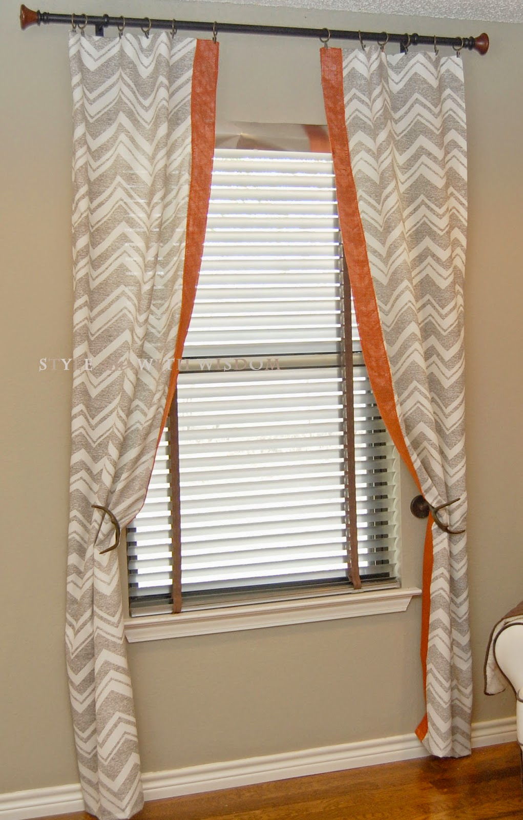 Woodland Nursery chevron curtains