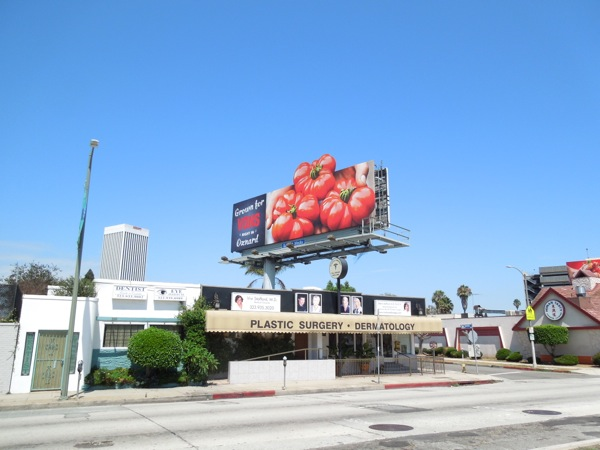 Vons tomatoes extension billboard