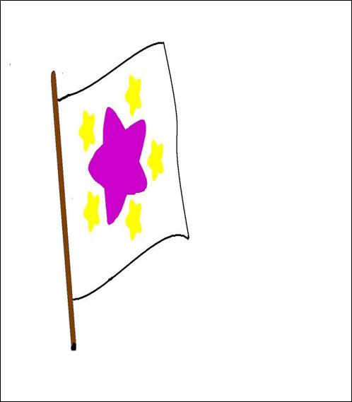 jardin infantil alas de angel escudo y bandera