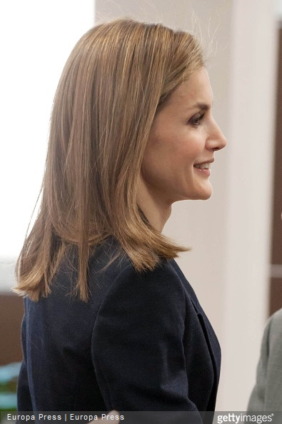 Queen Letizia of Spain attends a meeting with the Spanish Red Cross in Madrid