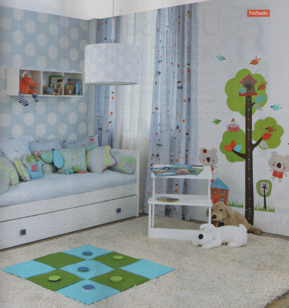 Um divertido quarto de crian a decora o de interiores - Papel paredes ikea ...