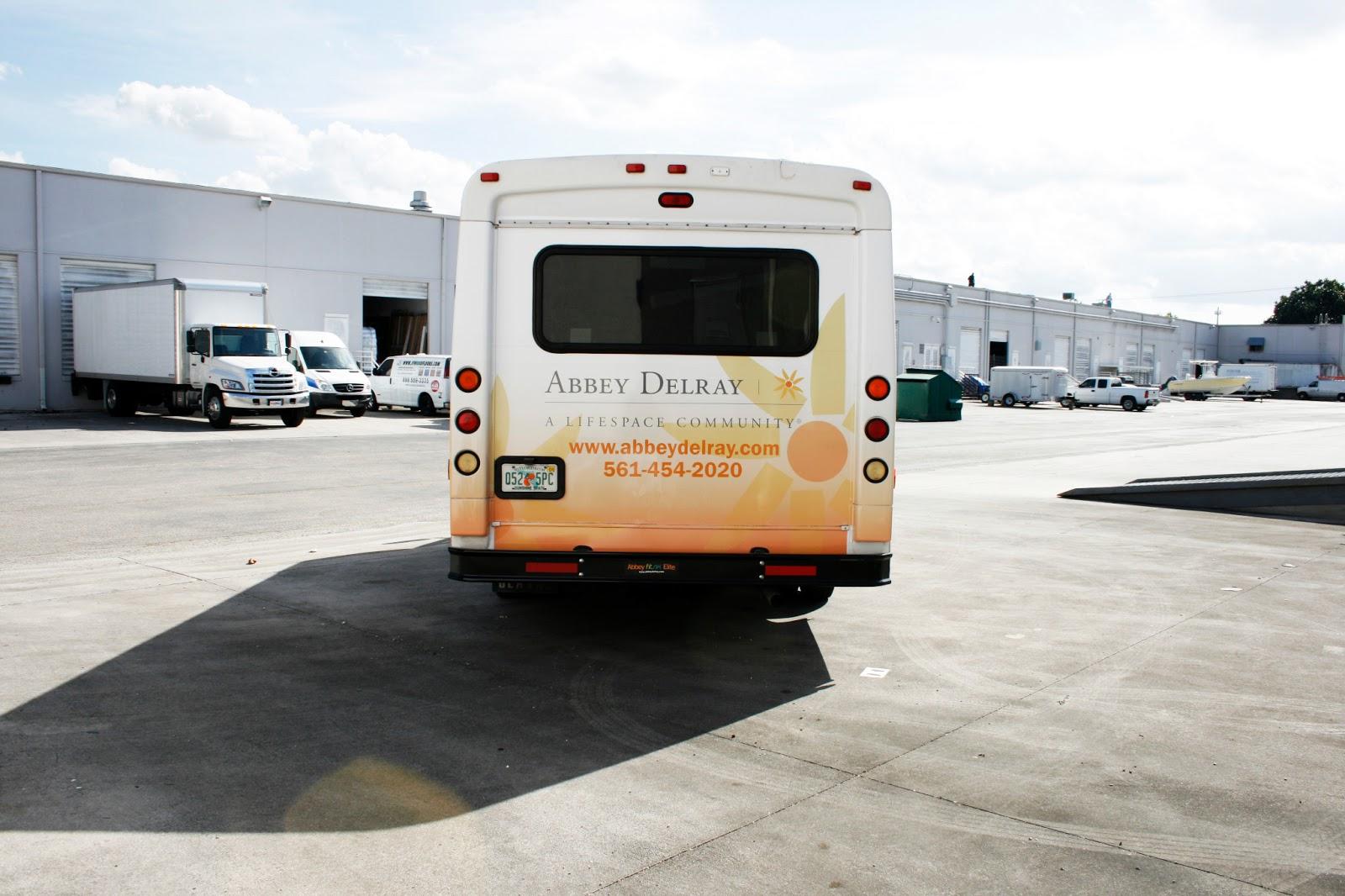 Shuttle Bus Van Wrap Delray Beach Florida