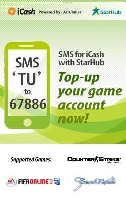 Top up iCash with StarHub!