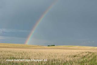 susis basteltipps mit stampin up: Regenbogen über einem Feld
