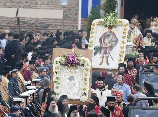 Saloniki, procesja niesienia obrazu św. Demetriusza