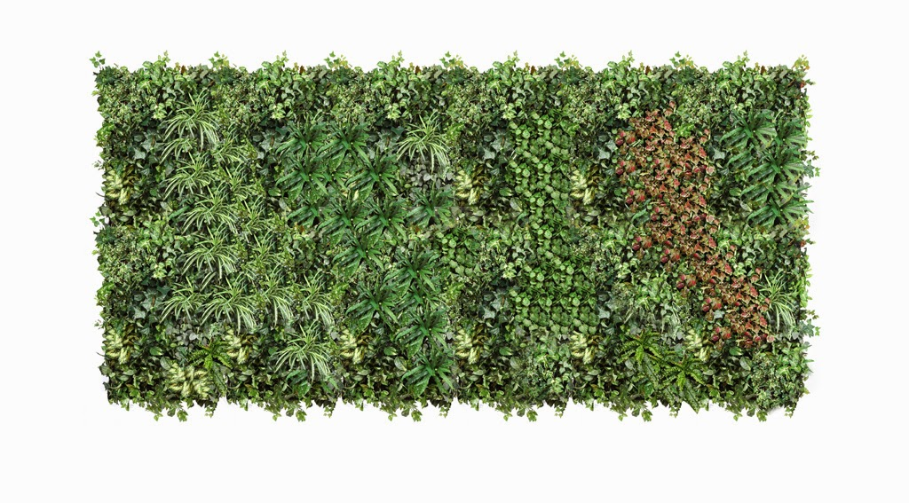 Decoraci n con plantas artificiales jardin vertical for Plantas jardin vertical
