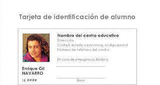 Tarjeta de identificación de estudiante