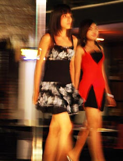 Yangon fashion show at restaurant