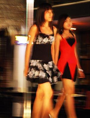 Yangon fashion show at restaurant