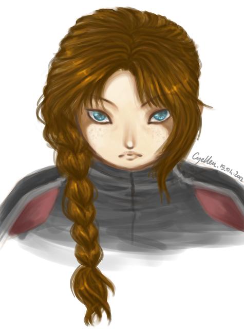 portrait manga de Katniss de Hunger Games